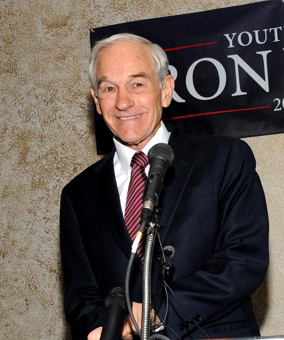 Republican Presidential Candidate Ron Paul speaks at The Board Room at Thomas & Mack