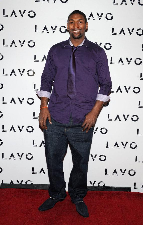 Ron Artest, aka Metta World Peace, on red carpet at LAVO