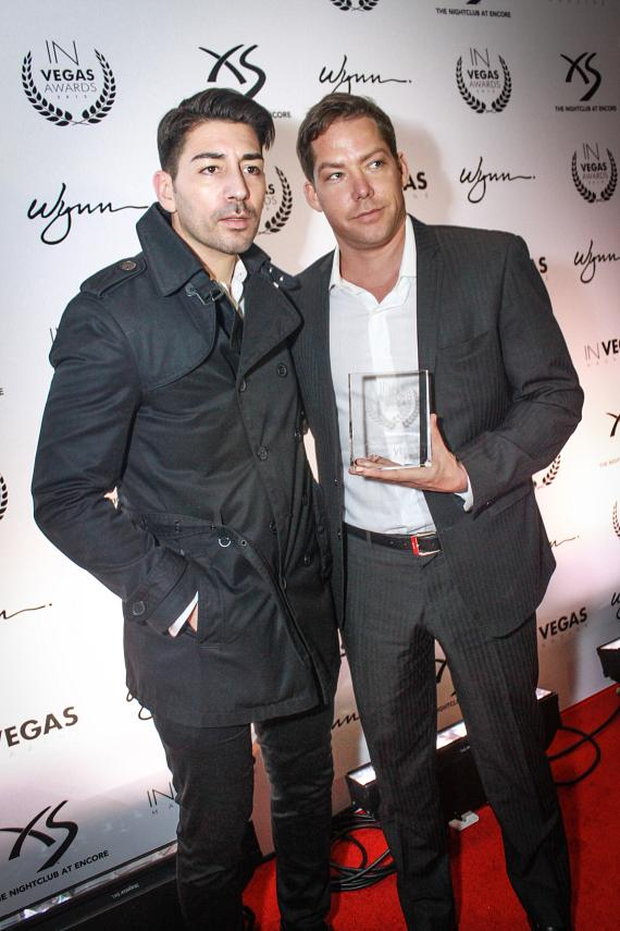 Ronn Nicolli (Director of Marketing at XS) and Jesse Waits (Managing Partner at XS) at IN VEGAS Awards 2013 - XS Nightclub-570