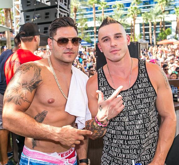 Ronnie Magro and Michael Pericoloso at REHAB
