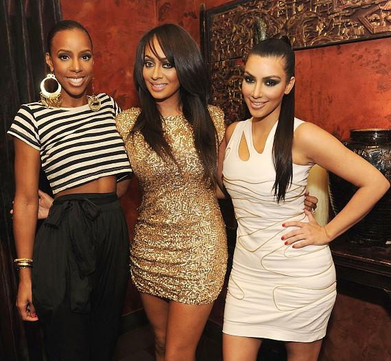 Kelly Rowland, La La Vazquez and Kim Kardashian at TAO