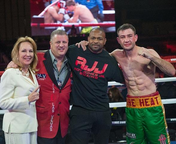 "Chris Van Heerden defeats Steve Claggett at ""Knockout Night at the D"" presented by Roy Jones Jr. Boxing at Downtown Las Vegas Event Center"