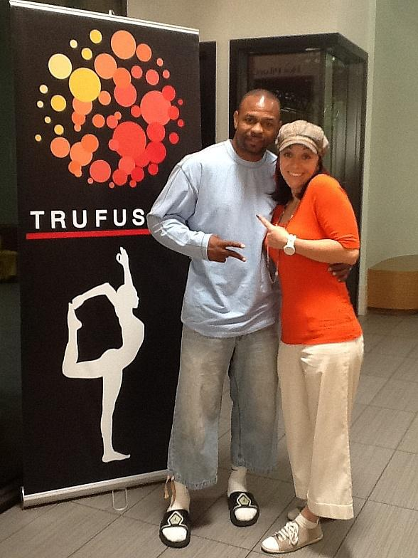 Roy Jones Jr. and Victoria Rea at TruFusion