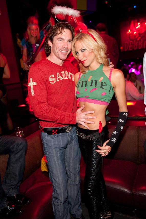 Debbie Gibson with boyfriend Dr. Rutledge Taylor at TAO