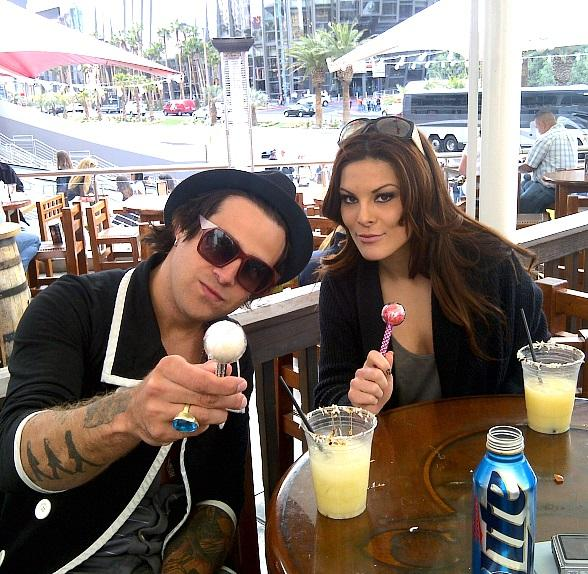 Ryan Cabrera at Cabo Wabo Cantina with a Couture Pop from Sugar Factory