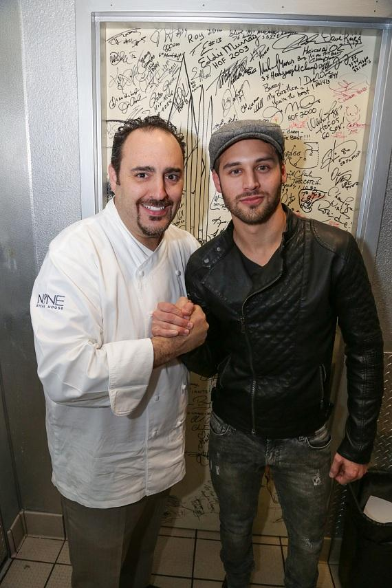 executive chef Barry S. Dakake Ryan Guzman at the Shakedown Door