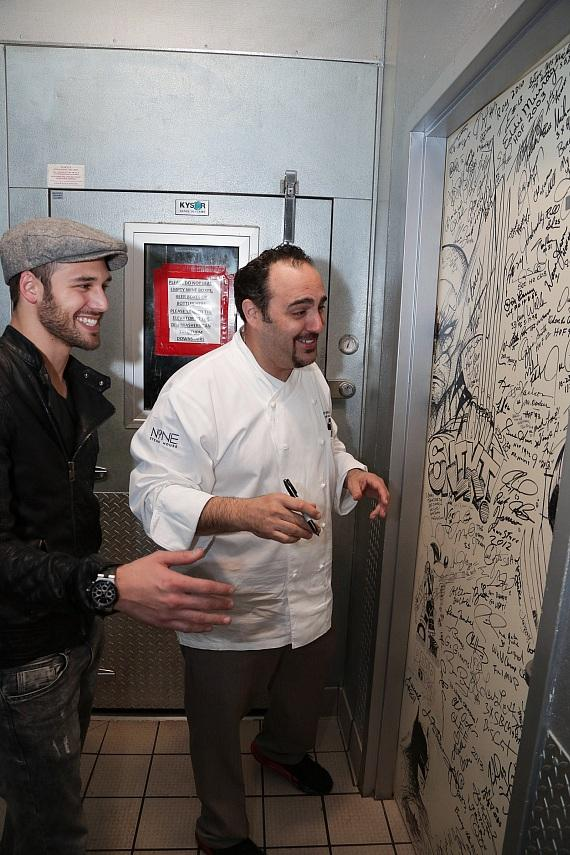 Ryan Guzman gets a tour of the Shakedown Door