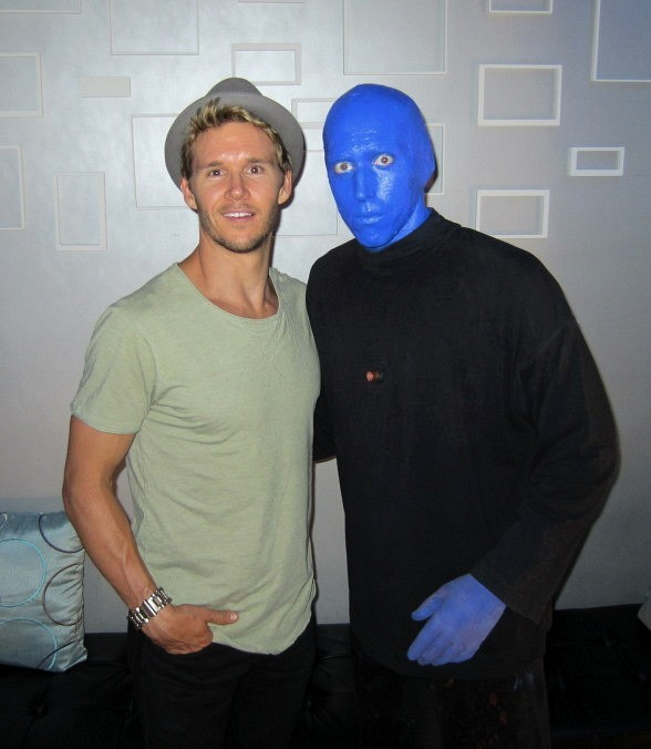 Ryan Kwanten Attends Blue Man Group Las Vegas