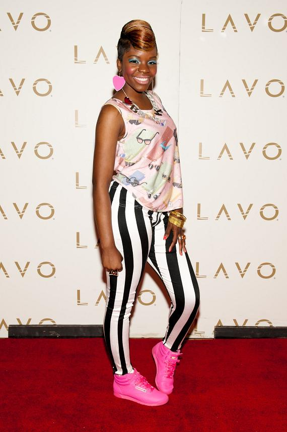 Rye Rye on the red carpet at LAVO