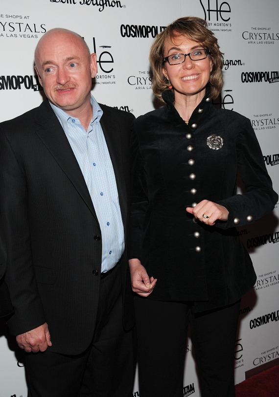 "Mark Kelly and former Congresswoman Gabrielle ""Gabby"" Giffords on red carpet at SHe"