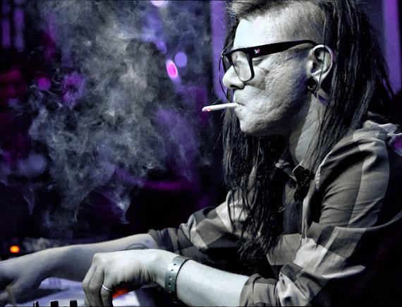 Skrillex, the 5-time Grammy Nominee, performs XS Nightclub