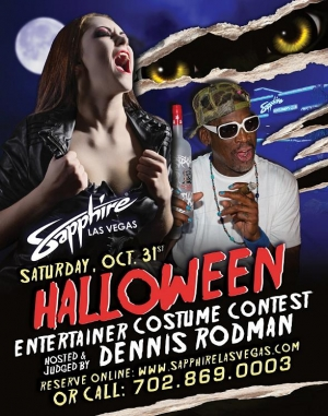 NBA Superstar Dennis Rodman to host Sapphire Gem Costume Contest on Halloween Oct. 31