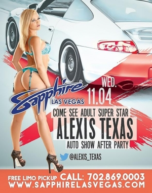 SEMA Week at Sapphire Las Vegas - Alexis Texas to Host on Nov. 4