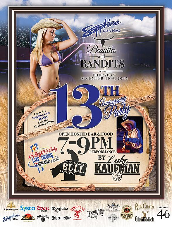 "Sapphire, The World's Largest Gentlemen's Club, Celebrates 13th Anniversary Dec. 10 with a ""Beauties & Bandits"" Rodeo-Themed Party"
