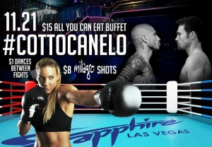 "TONIGHT! Sapphire to host Miguel Cotto vs. Canelo Alvarez ""Fight of the Year"" Viewing Party Saturday, Nov. 21"