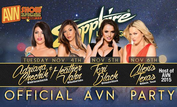 AVN Teams Up with Sapphire, The World's Largest Gentlemen's Club, to Host Official AVN Parties during SEMA Week in Las Vegas