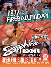 Sapphire Pool & Day Club to Host Fireball Friday with Music by HardNox Sept. 12