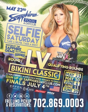 "Round 1 of the ""Las Vegas Bikini Classic"" on Selfie Saturday at Sapphire Pool & Dayclub May 23"
