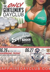 Party at Sapphire Pool & Dayclub on Champagne Friday (June 26) and Hamptons in the Desert (June 27)