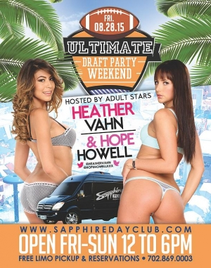 Sapphire Dayclub to host Ultimate Draft Party Weekend with Heather Vahn, Hope Howell, and Gianna Michaels August 28-30
