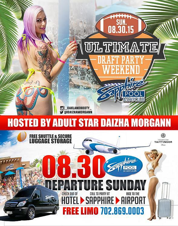 Sapphire Dayclub to host Ultimate Draft Party Weekend with Daizha Morgann August 30
