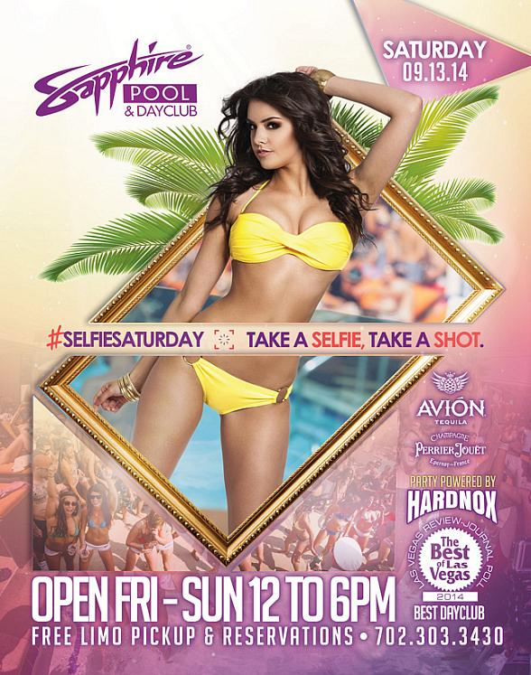 "Party with HardNox at Sapphire Pool & Day Club on ""Selfie Saturday"" Sept. 13"