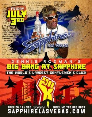 "Dennis Rodman's ""Big Bang"" at Sapphire Pool & Dayclub Friday, July 3"