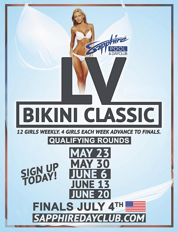 "Sapphire Pool & Dayclub to host the ""Las Vegas Bikini Classic"" – Sign up today!"