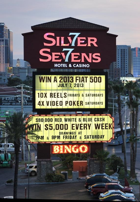 The Silver Sevens Hotel & Casino lights up the Las Vegas Strip with the official new marquee