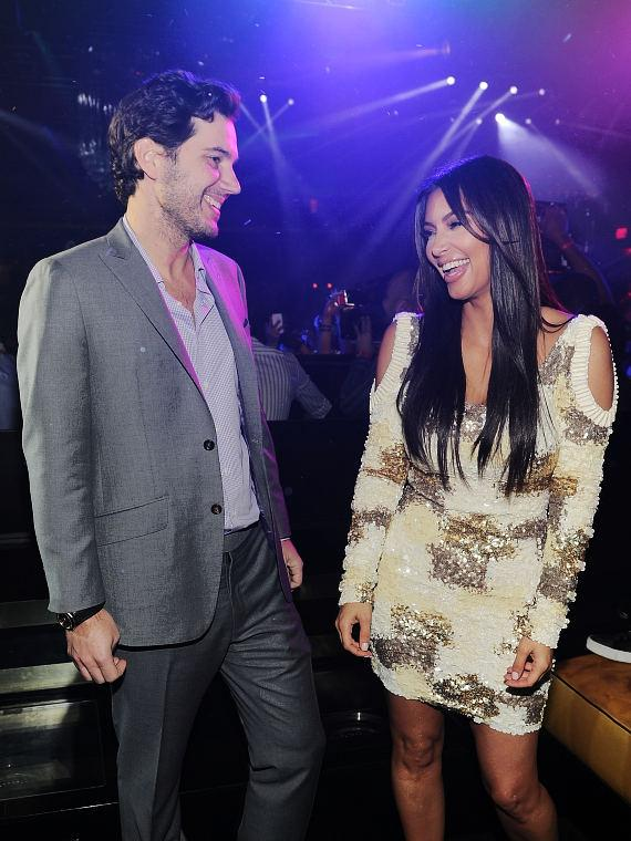 Scott Sartiano and Kim Kardashian celebrate Rob Kardashian's birthday at 1 OAK Nightclub