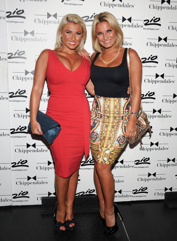 Billie and Sam Faiers at Chippendales in Las Vegas