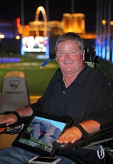"Sam Schmidt at ""Conquer Paralysis Now"" at Topgolf Las Vegas"
