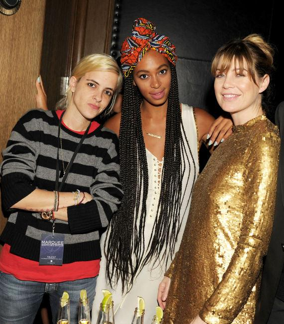 Samantha Ronson, Solange Knowles and Ellen Pompeo
