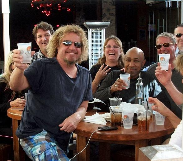 Sammy Hagar Dines at Cabo Wabo Cantina in Las Vegas