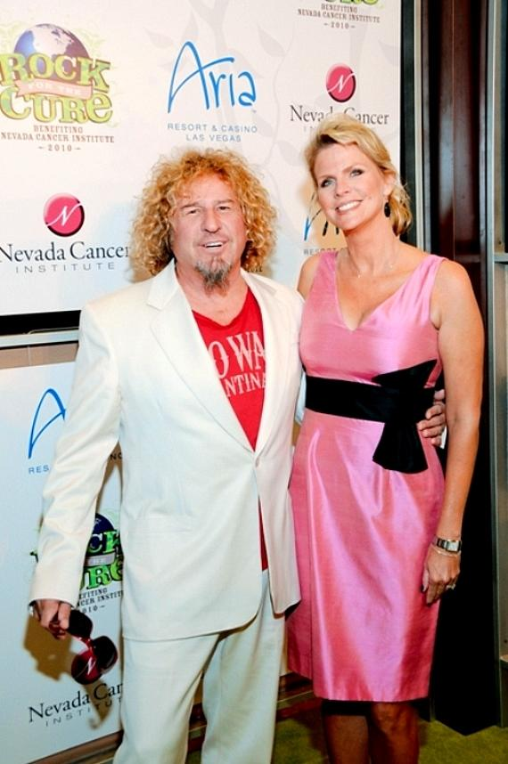 Sammy Hagar and wife Kari Karte at Nevada Cancer Institute's Rock for the Cure Las Vegas