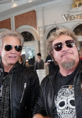 "Sammy Hagar Visits Don Felder at The Venetian Las Vegas During ""Styx and Don Felder: Renegades In The Fast Lane"" Limited Engagement"