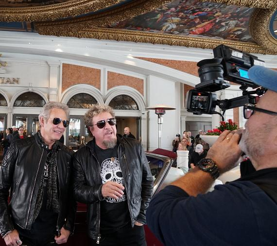 """Sammy Hagar Visits Don Felder at The Venetian Las Vegas During """"Styx and Don Felder: Renegades In The Fast Lane"""" Limited Engagement"""