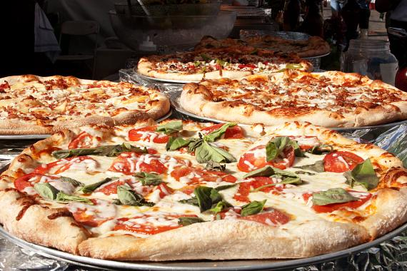San Gennaro Feast pizza
