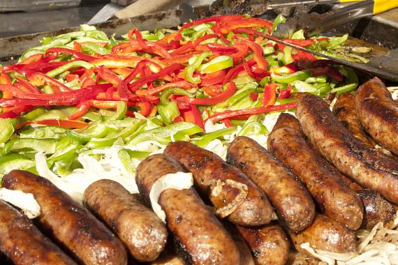 San Gennaro Feast - sausage, peppers and onions