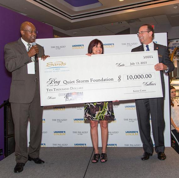Sands Cares Makes Donation to the Quiet Storm Foundation