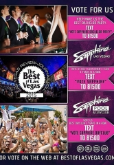 "Vote for Sapphire Las Vegas and Sapphire Pool & Dayclub in ""Best of Las Vegas"" 2015"