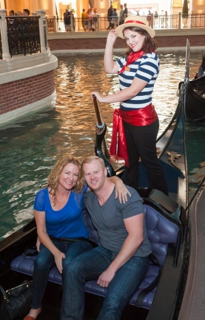 Sarah Colonna and Jon Ryan check in for a Romantic Weekend at The Venetian Las Vegas