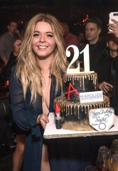 Sasha Pieterse Celebrates Her 21st Birthday at Marquee Nightclub in The Cosmopolitan of Las Vegas