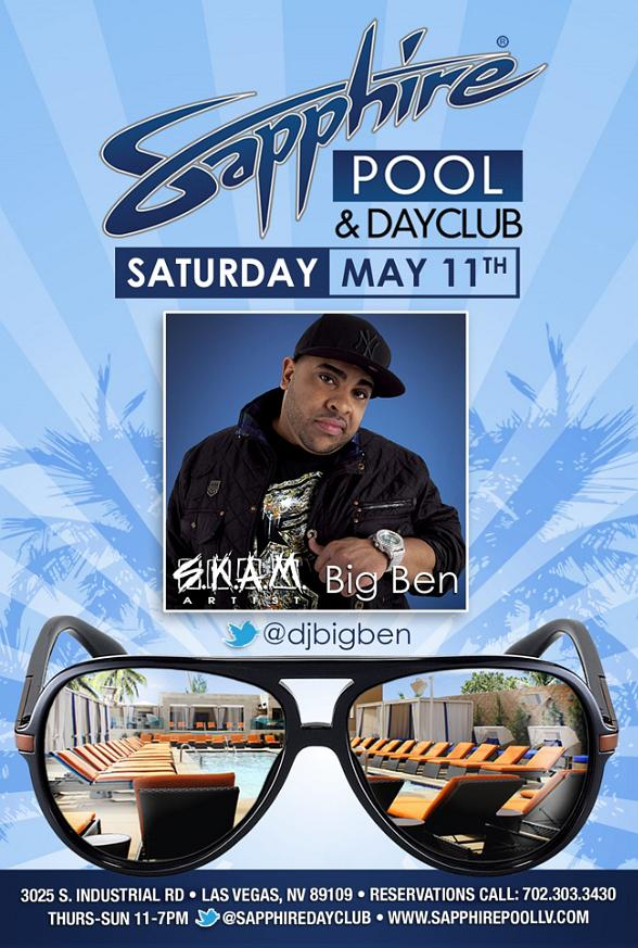 Big Ben to perform at Sapphire Las Vegas on Saturday, May 11