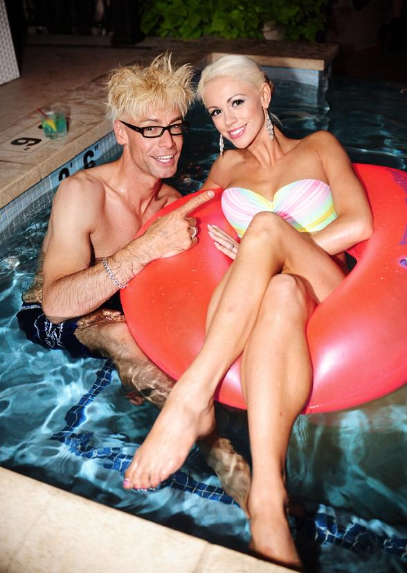 "Murray and Chloe at Surrender Nightclub's Weekly ""Splash Dance"" Party"