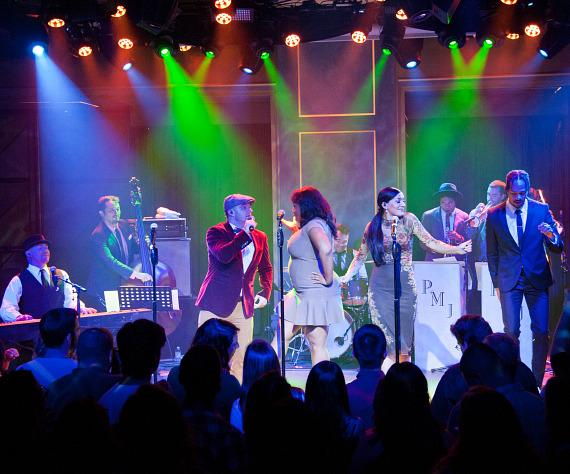 Scott Bradlee's Postmodern Jukebox performs at Rose. Rabbit. Lie. at The Cosmopolitan of Las Vegas