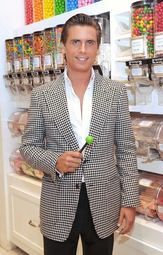 Scott Disick with a Couture Pop inside the flagship Sugar Factory retail store at Paris Las Vegas