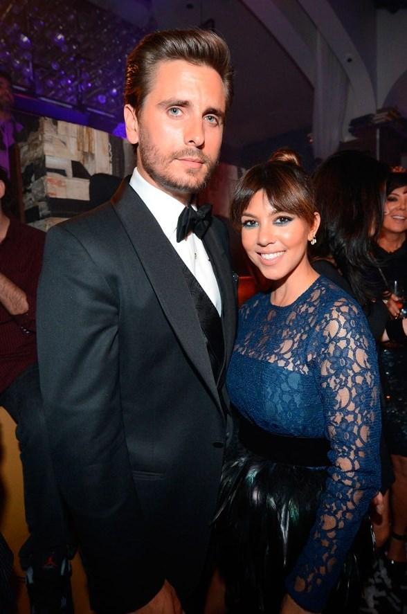 Scott Disick and Kourtney Kardashian at Hyde Bellagio in Las Vegas