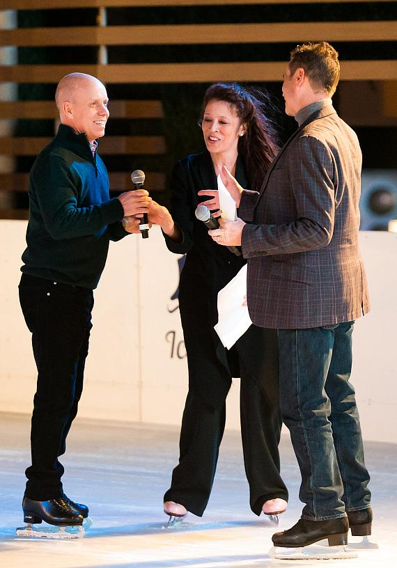Scott Hamilton, Tai Babilonia and Randy Gardner host Ice Out Cancer Over Vegas at The Ice Rink
