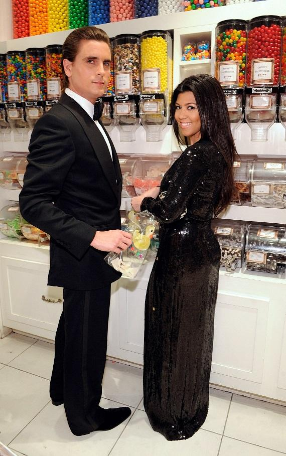 Scott Disick and Kourtney Kardashian shopping in Sugar Factory at Paris Las Vegas